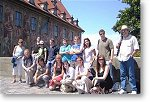 course participants at Sprachinstitut TREFFPUNKT during a city walk Bamberg