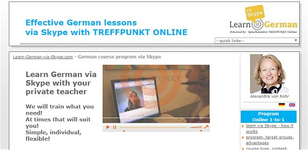 Learning German via Skype