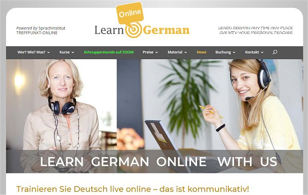 learning german using the internet