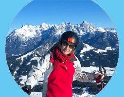 Ski fahren und Deutsch lernen mit und in einer deutschen Sprachlehrer-Familie