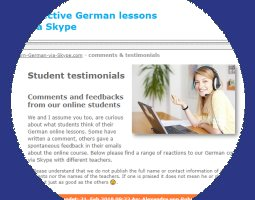 students comments on German-via-Skype