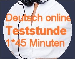German Online Trial lesson – easy booking